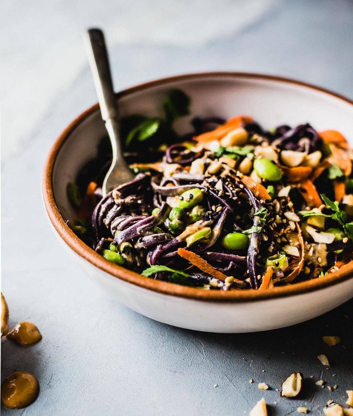Peanut Soba Noodle Bowls