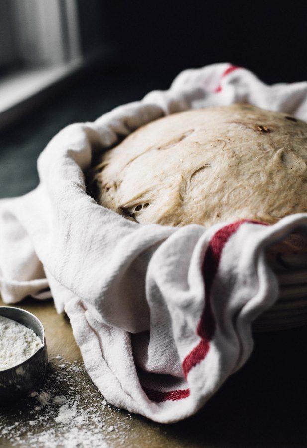 sourdough bread rising