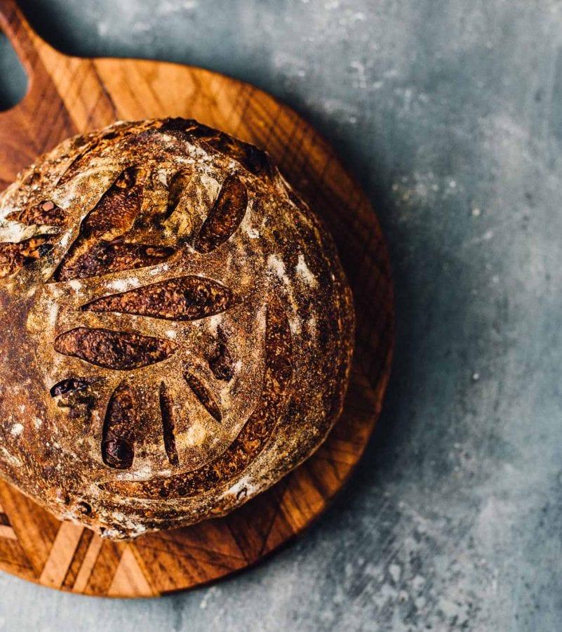 Walnut Honey Sourdough Bread