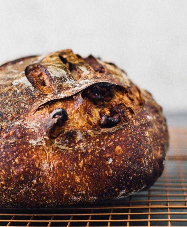Roasted Walnut Sourdough Bread