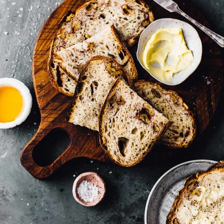 Honey Sourdough Bread with Roasted Walnuts
