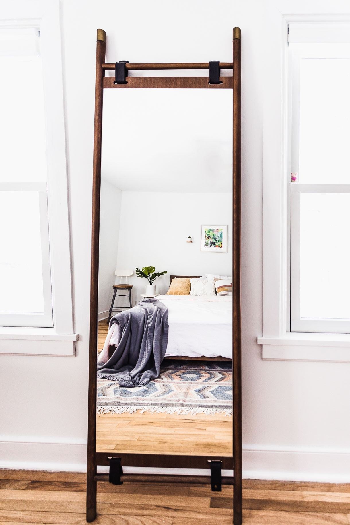 Article Floor Mirror, white bedroom