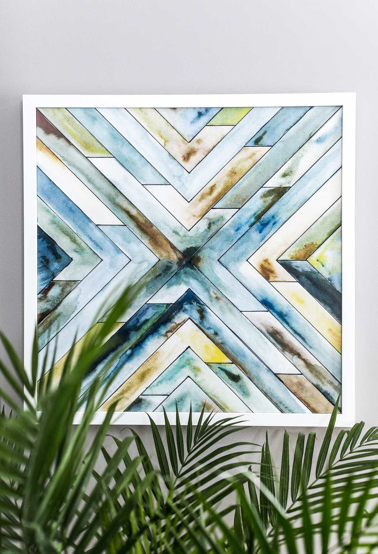 angular organic west elm wall art