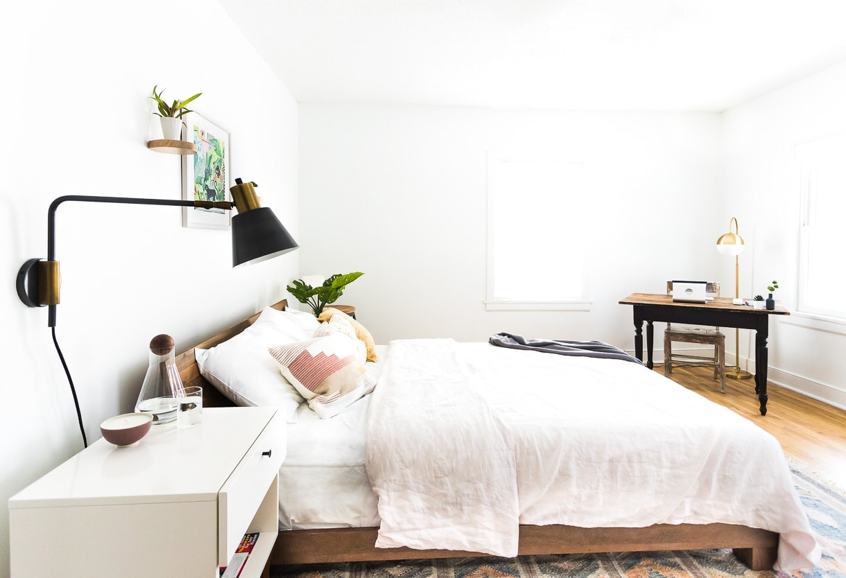 modern minimalist bedroom kitchen | Heartbeet Home: A Cozy Minimalist Bedroom without Clutter