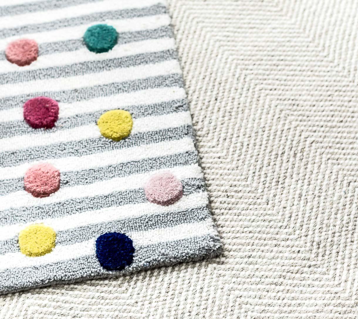 striped polka dot rug