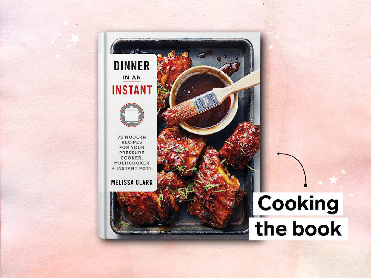 dinner in an instant cookbook, by melissa clark
