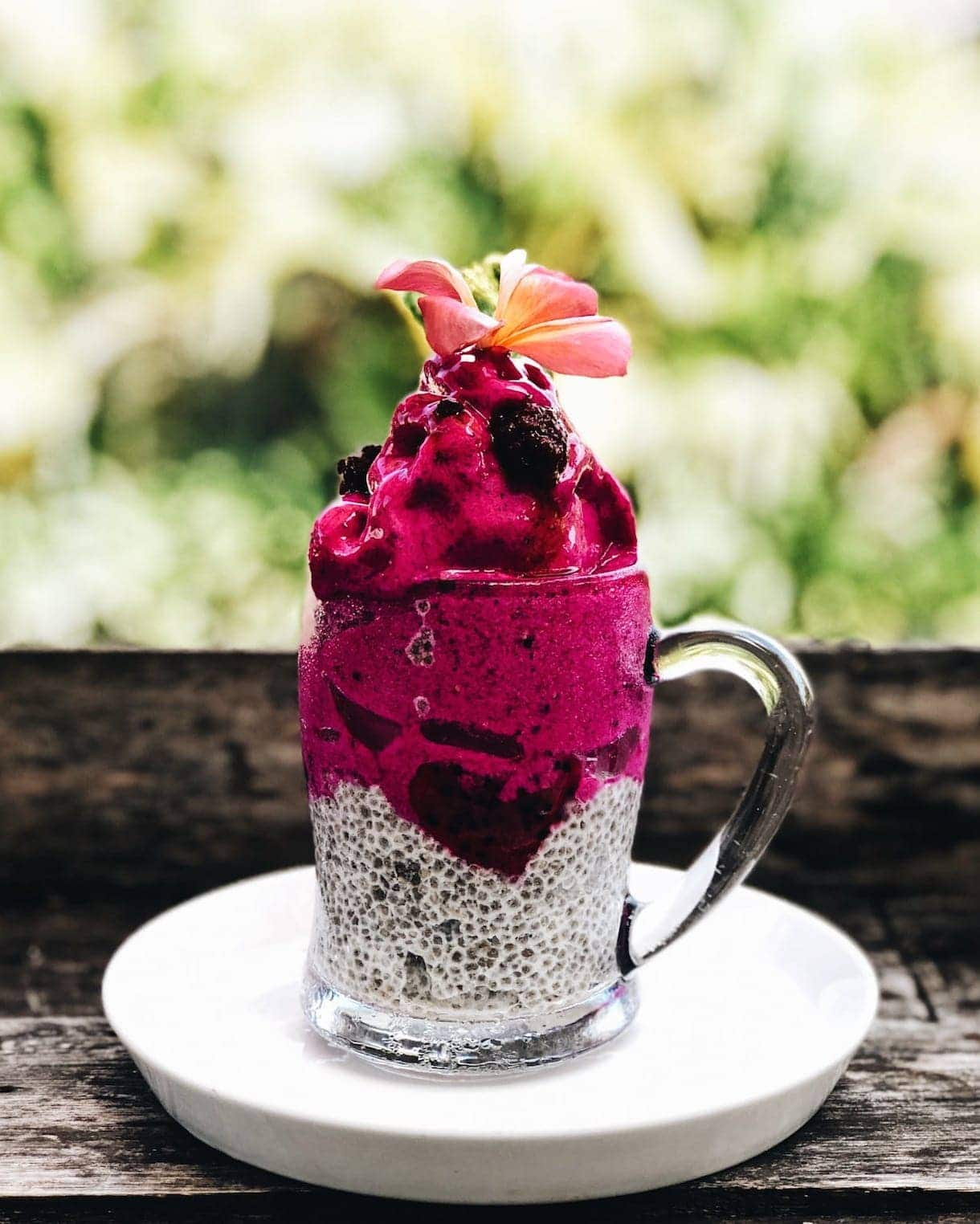 dragonfruit chia pudding