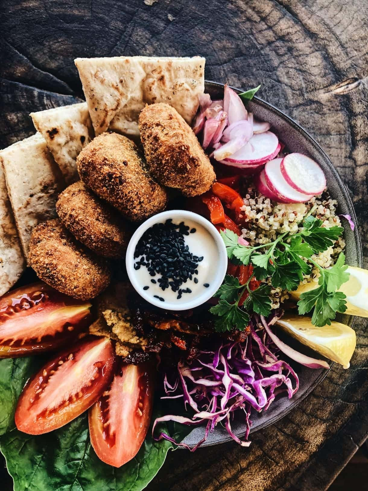 falafel salad bowl, #canguu #bali