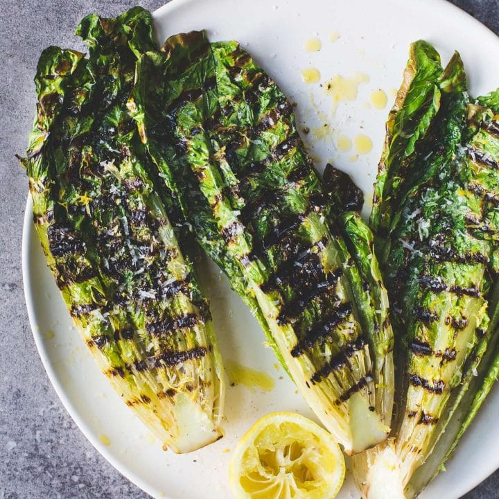 How to Grill Lettuce + Simple Grilled Romaine Salad Recipe {video}