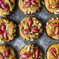 Rhubarb Almond Flour Muffins