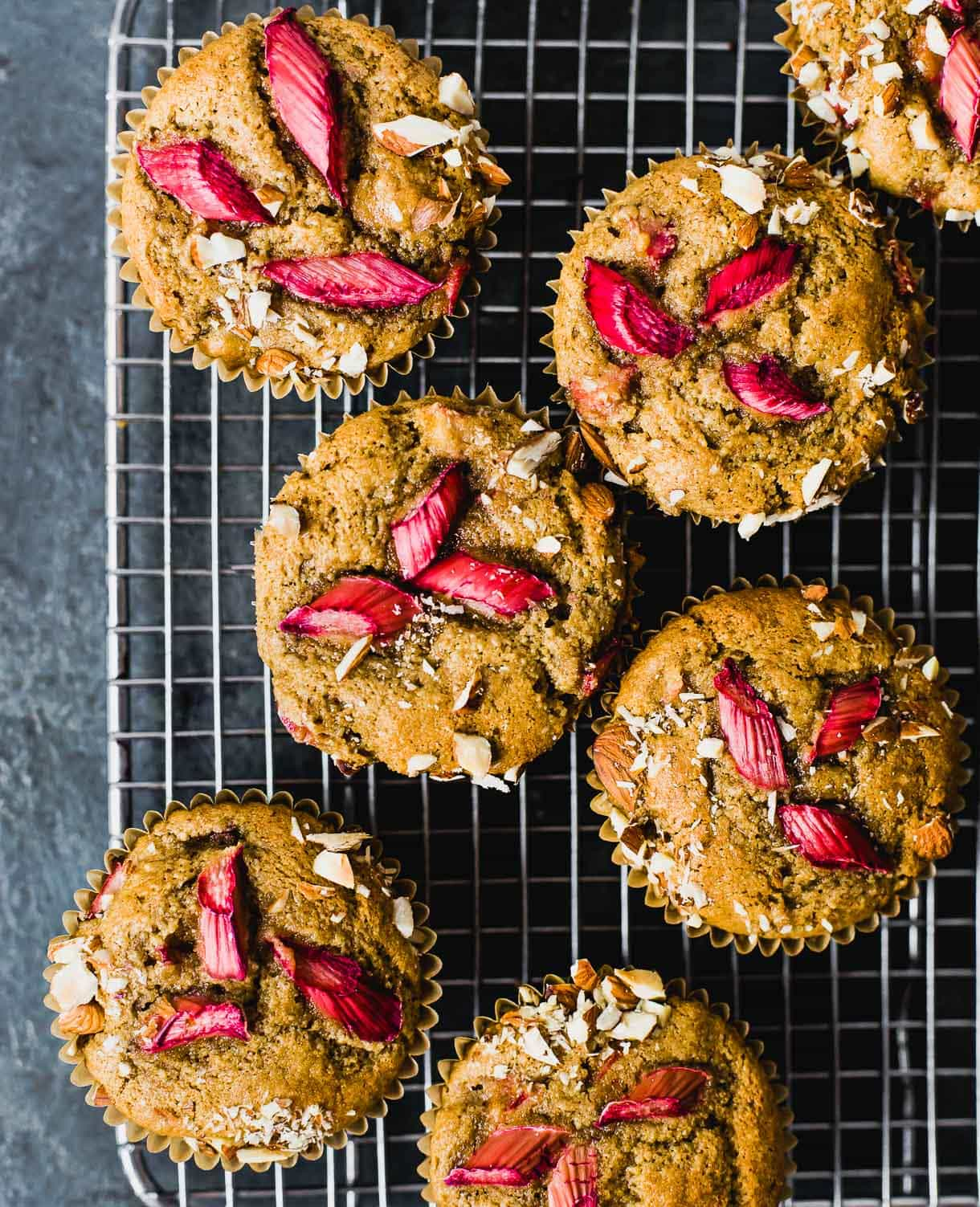 Gluten Free Almond Flour Muffins with Rhubarb