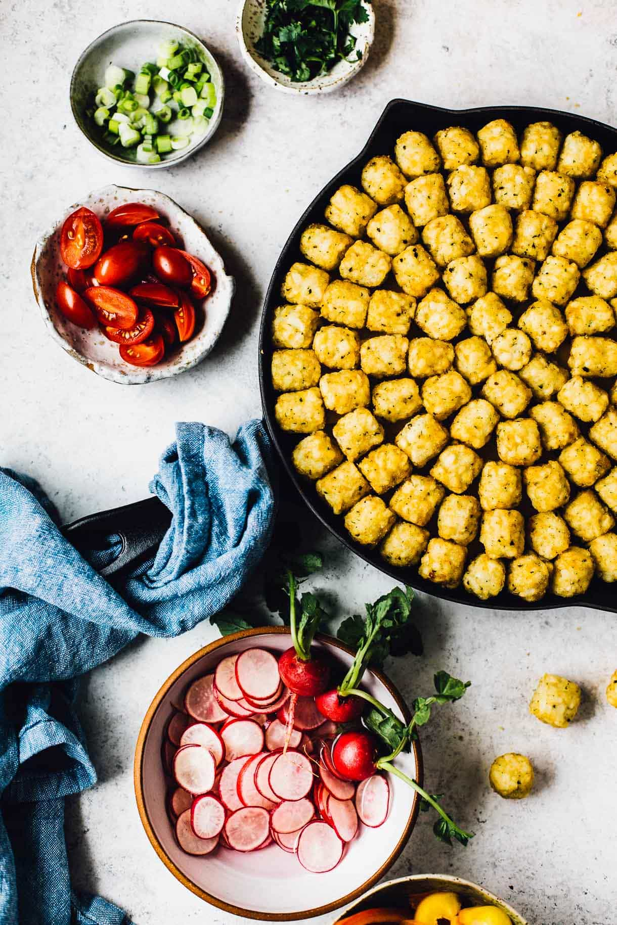 Taco Tater Tot #Hotdish with all the fixings