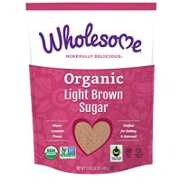 Wholesome Fair Trade Organic Light Brown Sugar, Naturally Flavored Real Sugar, Non GMO & Gluten Free, 1.5 lb (Pack of 1)