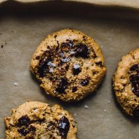 Flourless Peanut Butter Cookies with Chocolate Chips