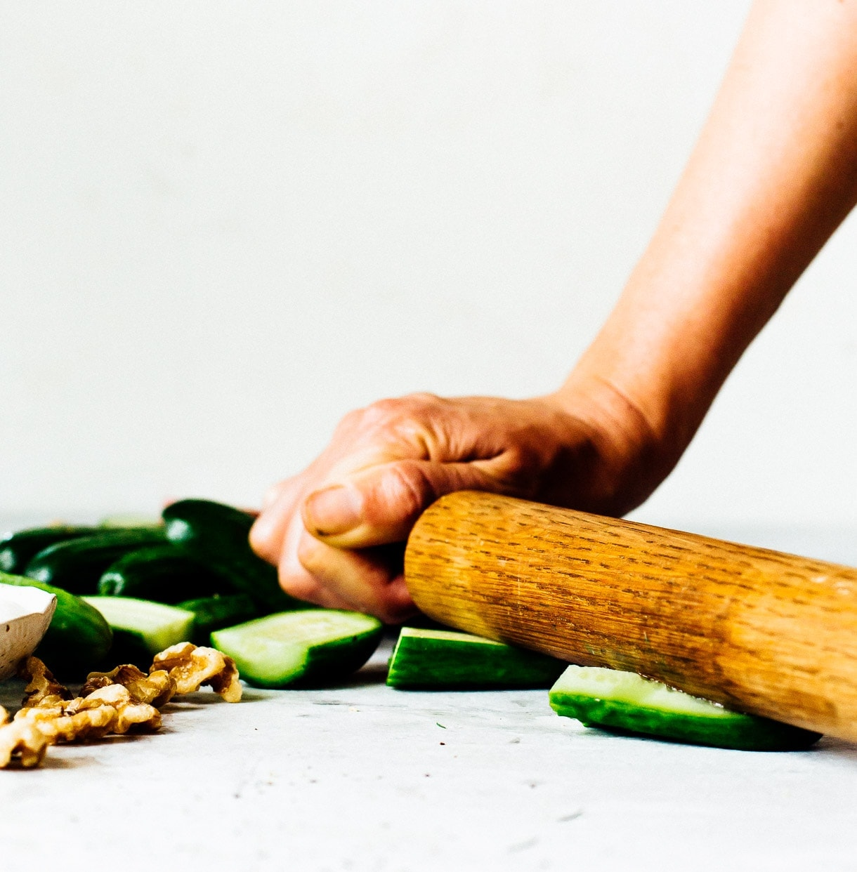 how to smash cucumbers