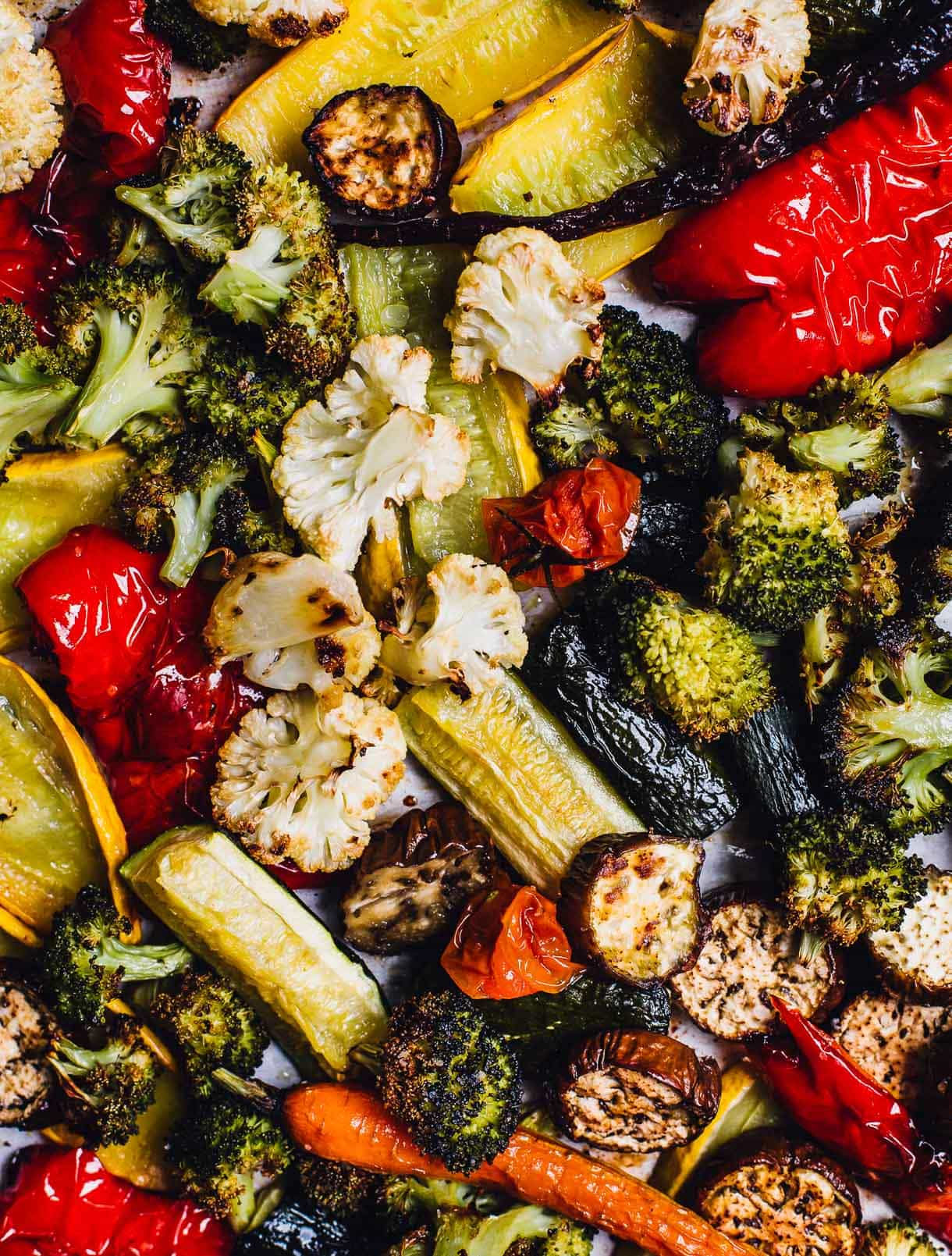 Roasted Vegetable dinner on sheet pan