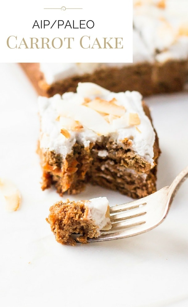 AIP/Paleo Carrot Cake with Whipped Coconut Frosting