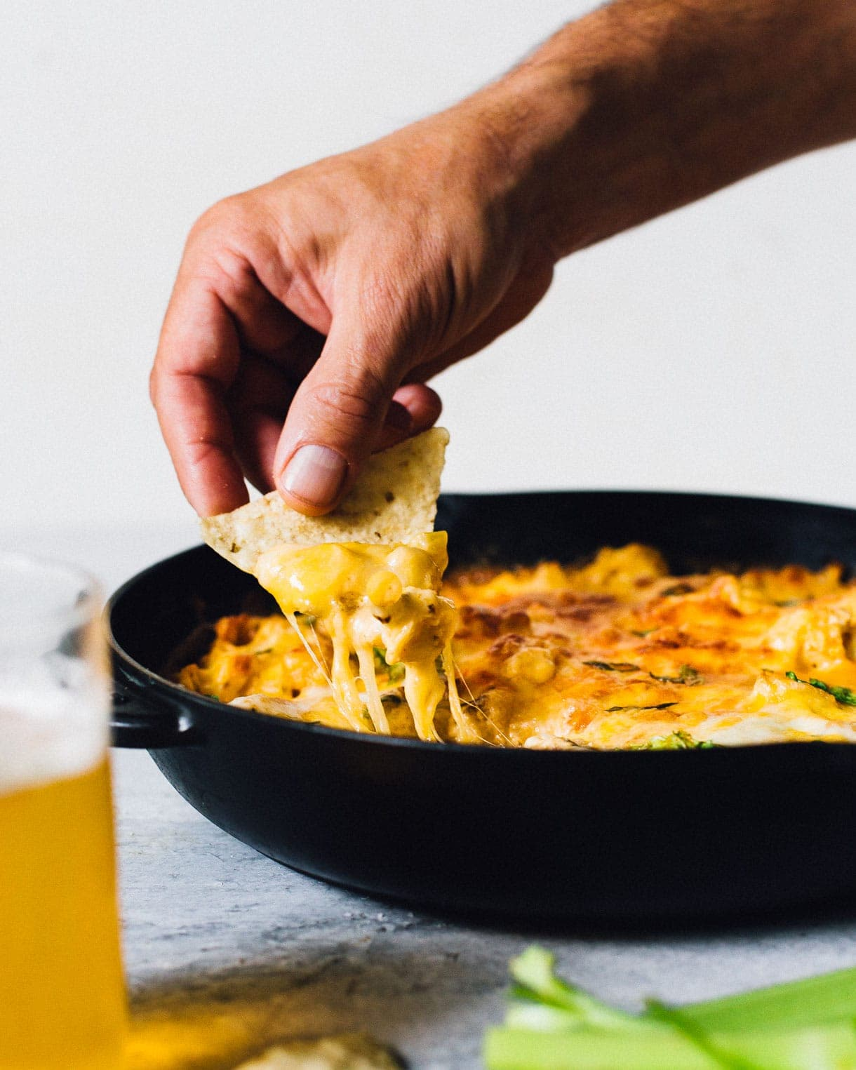 game day buffalo cauliflower dip