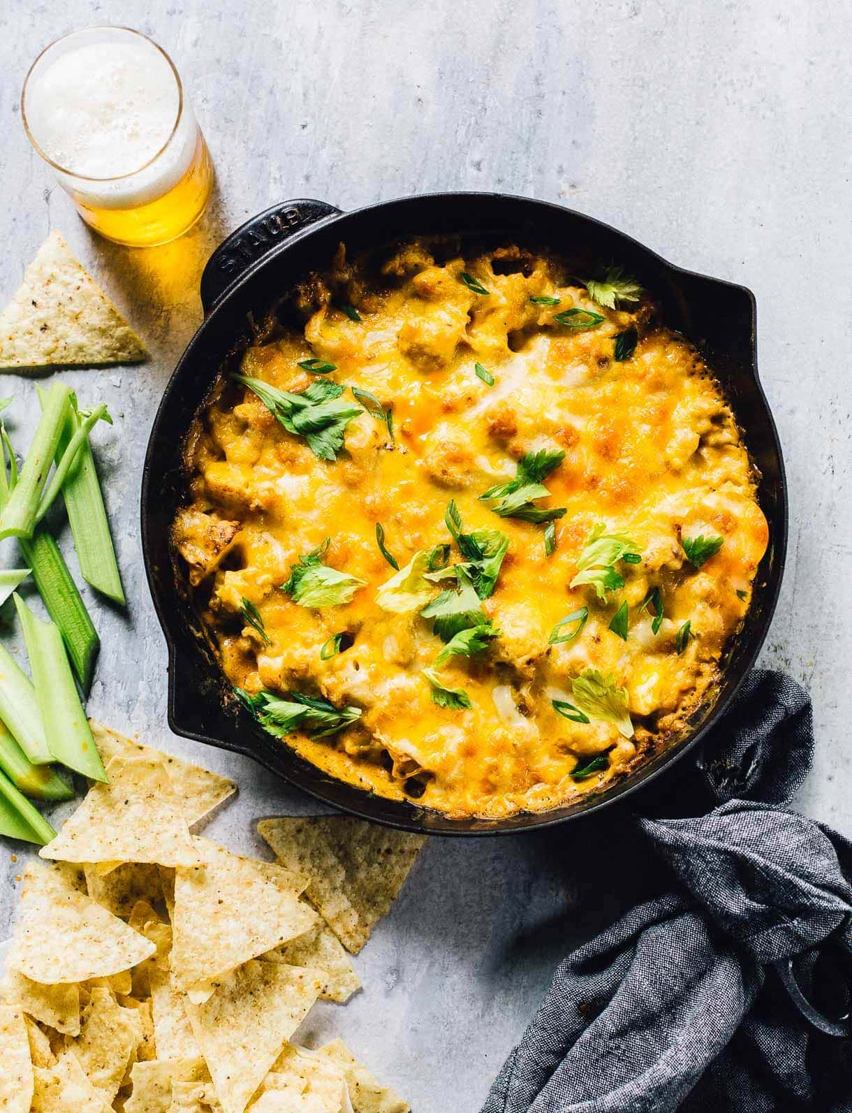 buffalo cauliflower dip (gluten free recipe)