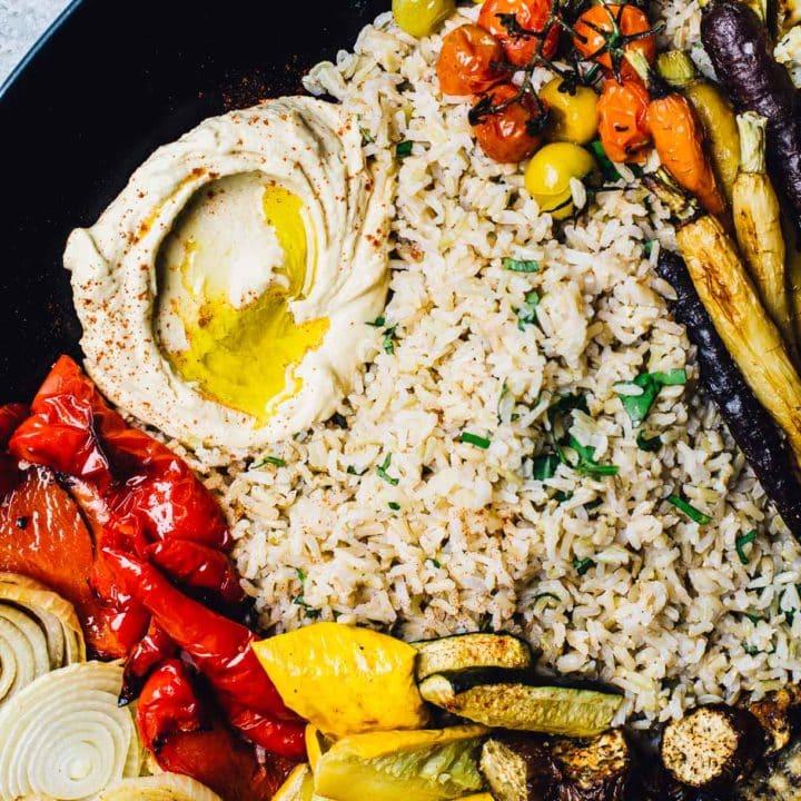 Roasted Vegetable and Hummus Platter