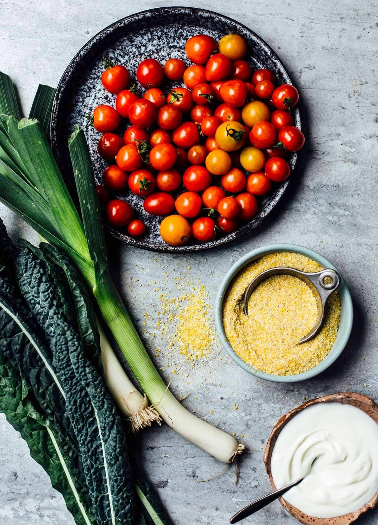 cherry tomato recipe with polenta