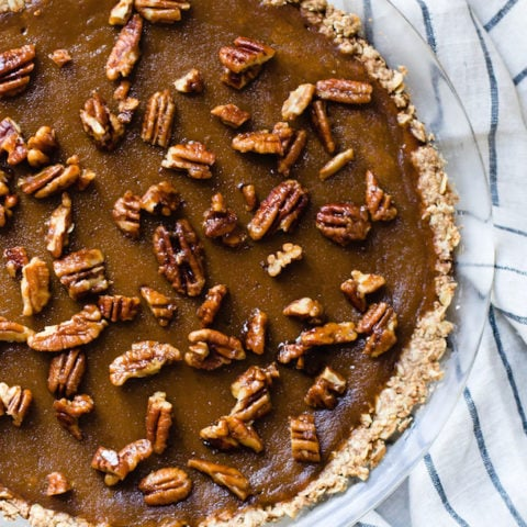 Butternut Squash Pie with Candied Pecans
