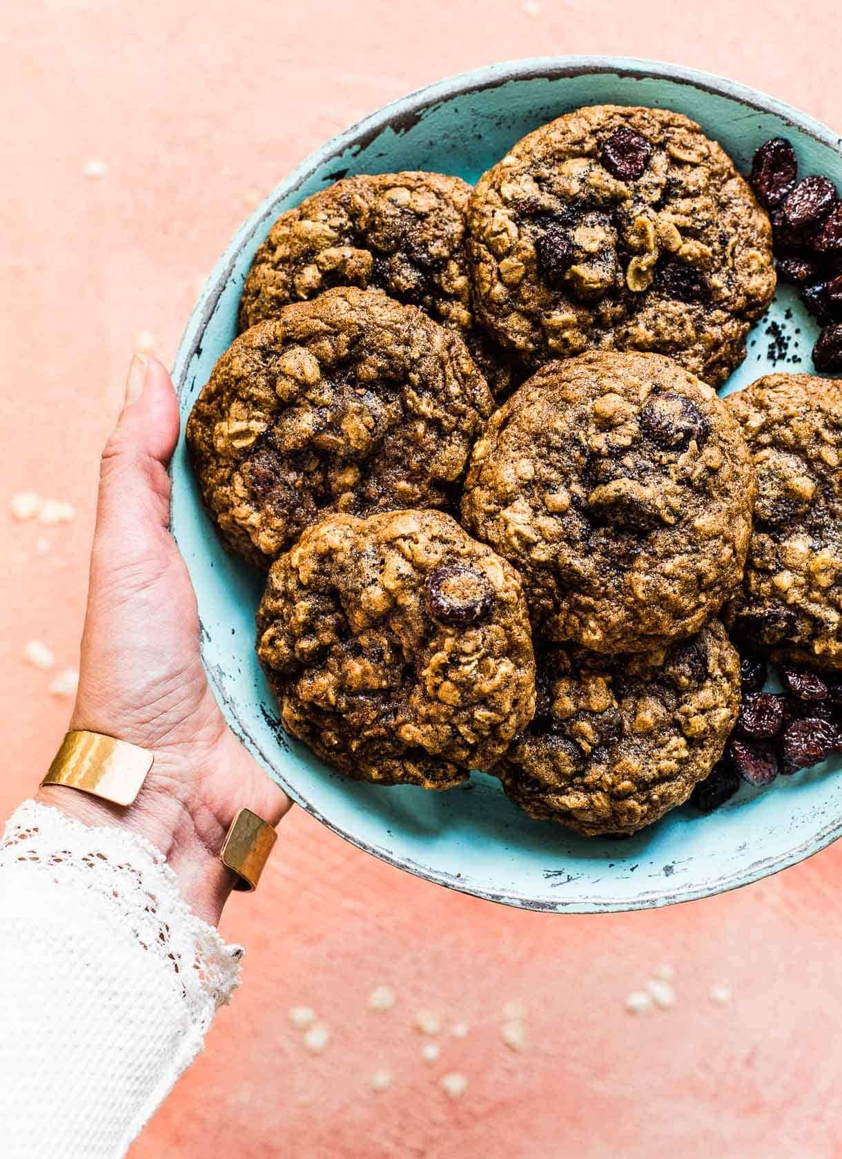 Cranberry Poppy Seed Gluten Free Oatmeal Cookies (recipe)