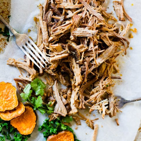 Juicy, Cuban Pulled Pork {slow-cooker option}