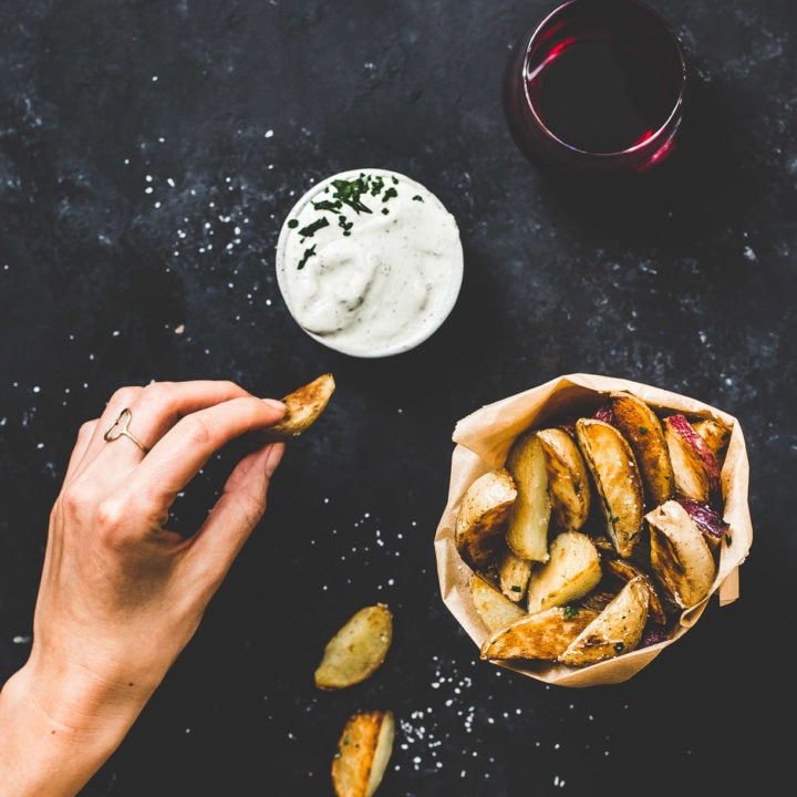 Extra Crispy Potato Wedges without frying, Made For Dipping