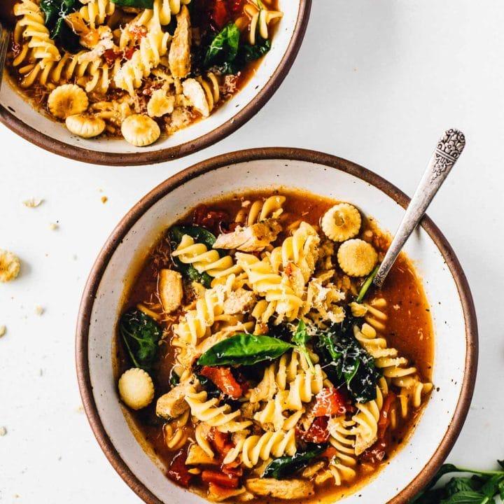 One Pot Turkey Tuscan Soup
