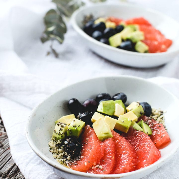 Sparkling Fruit Salad with Avocado