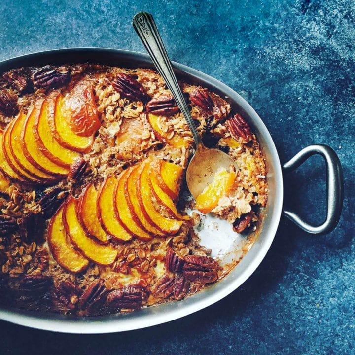 Peach Baked Muesli