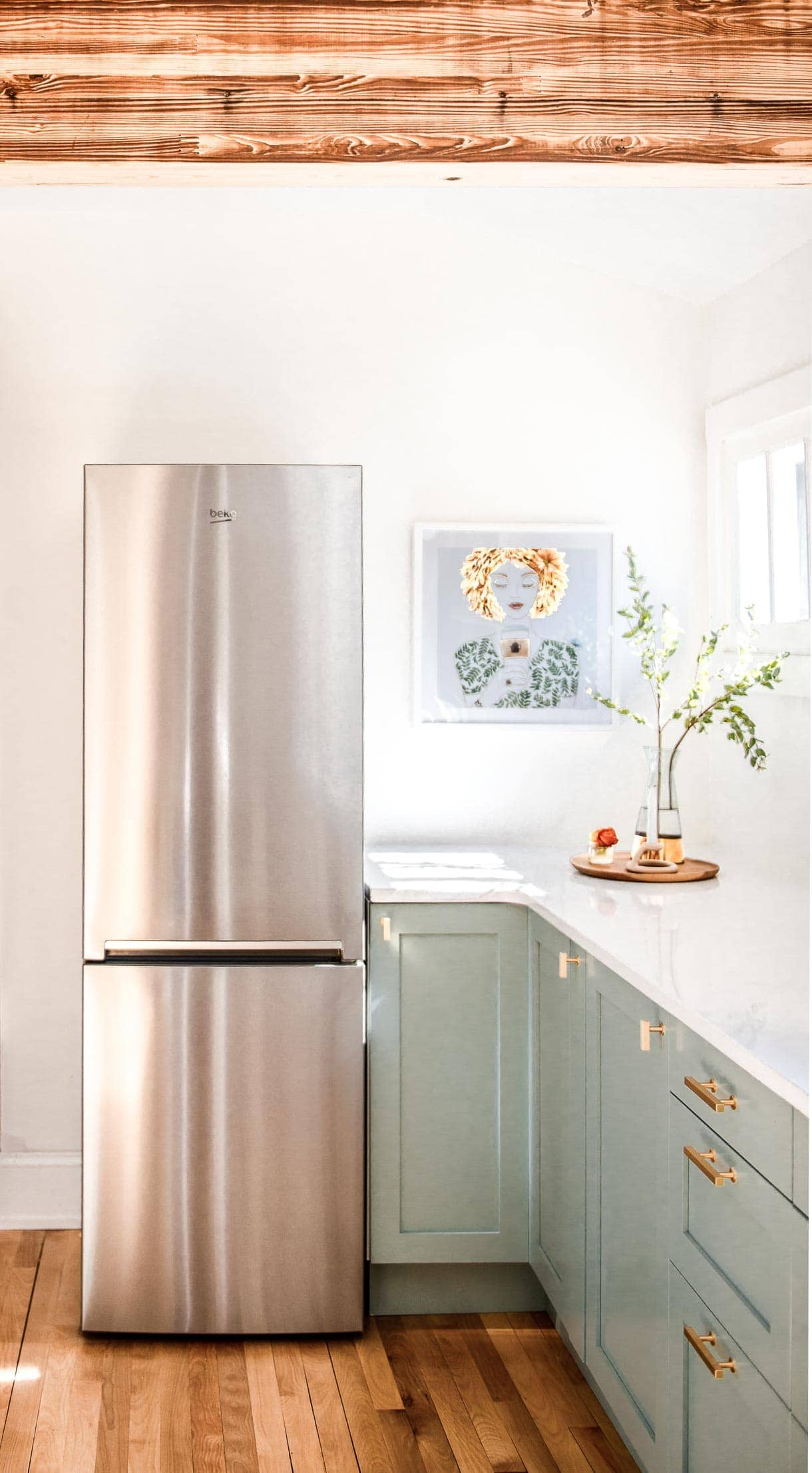 Beko 24 inch refrigerator in kitchen renovation