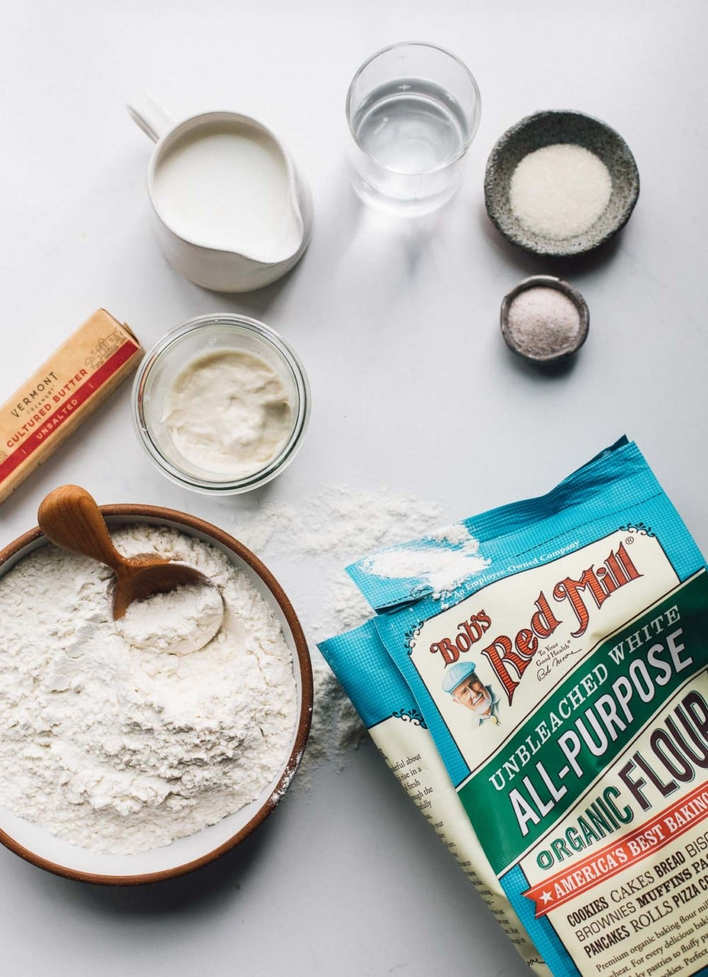 sourdough english muffin ingredients