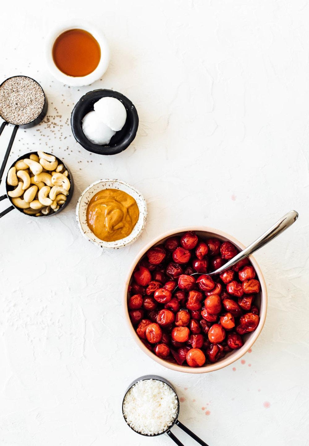 frozen tart cherries and ingredients