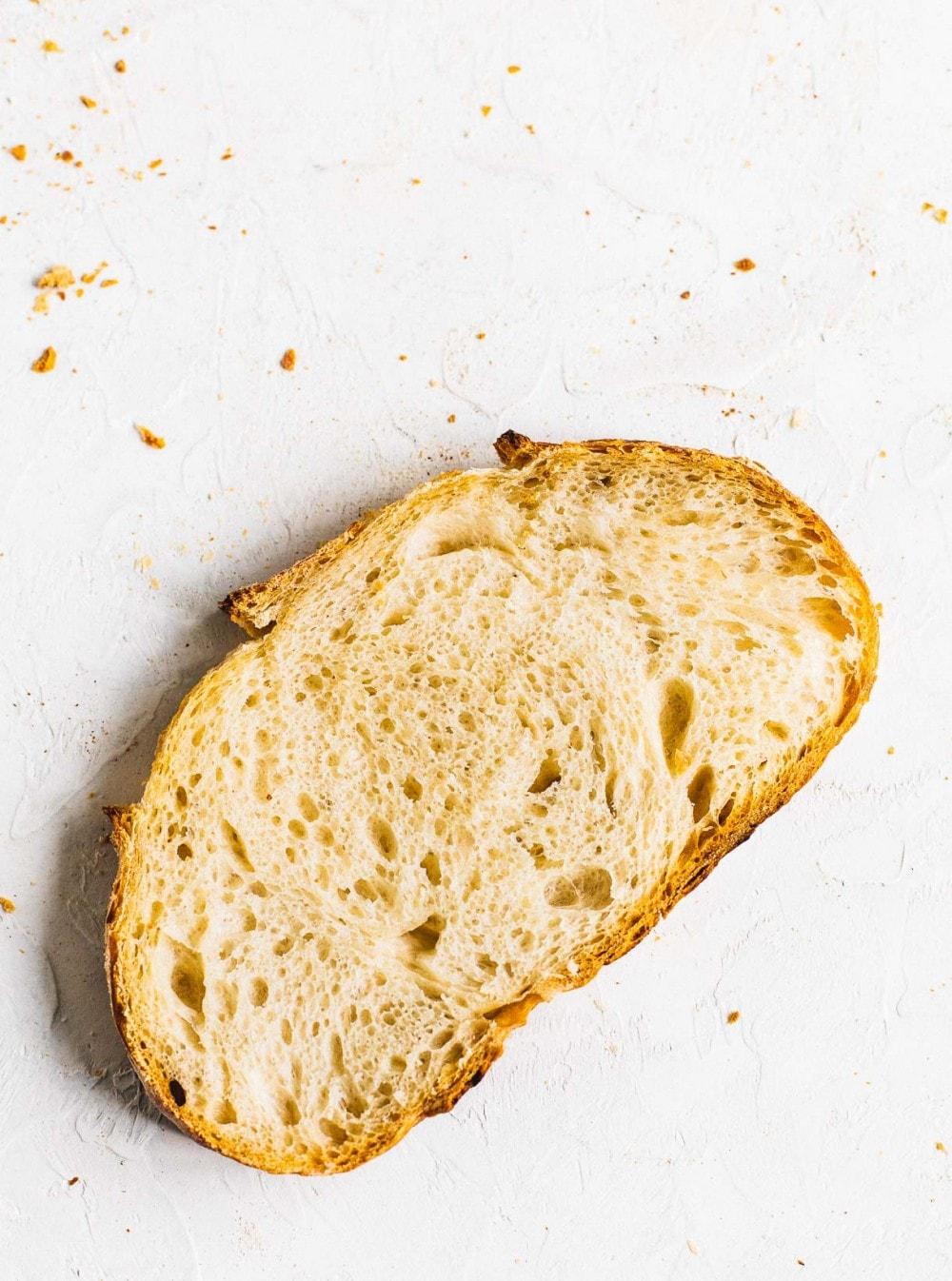 single slice of sourdough bread
