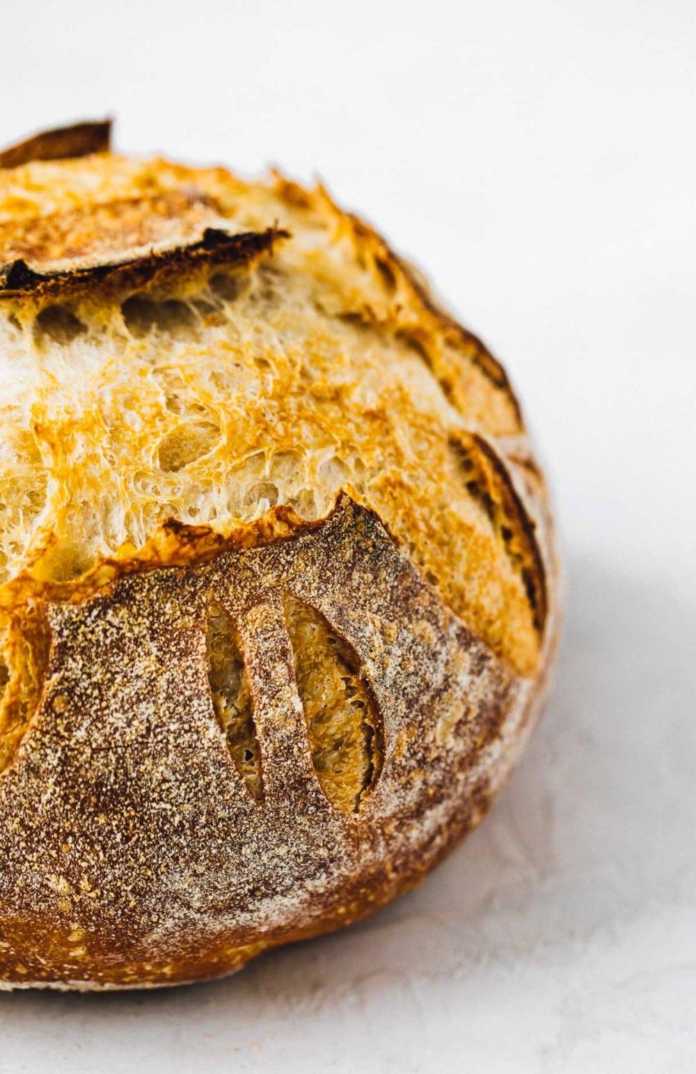 sourdough bread side angle