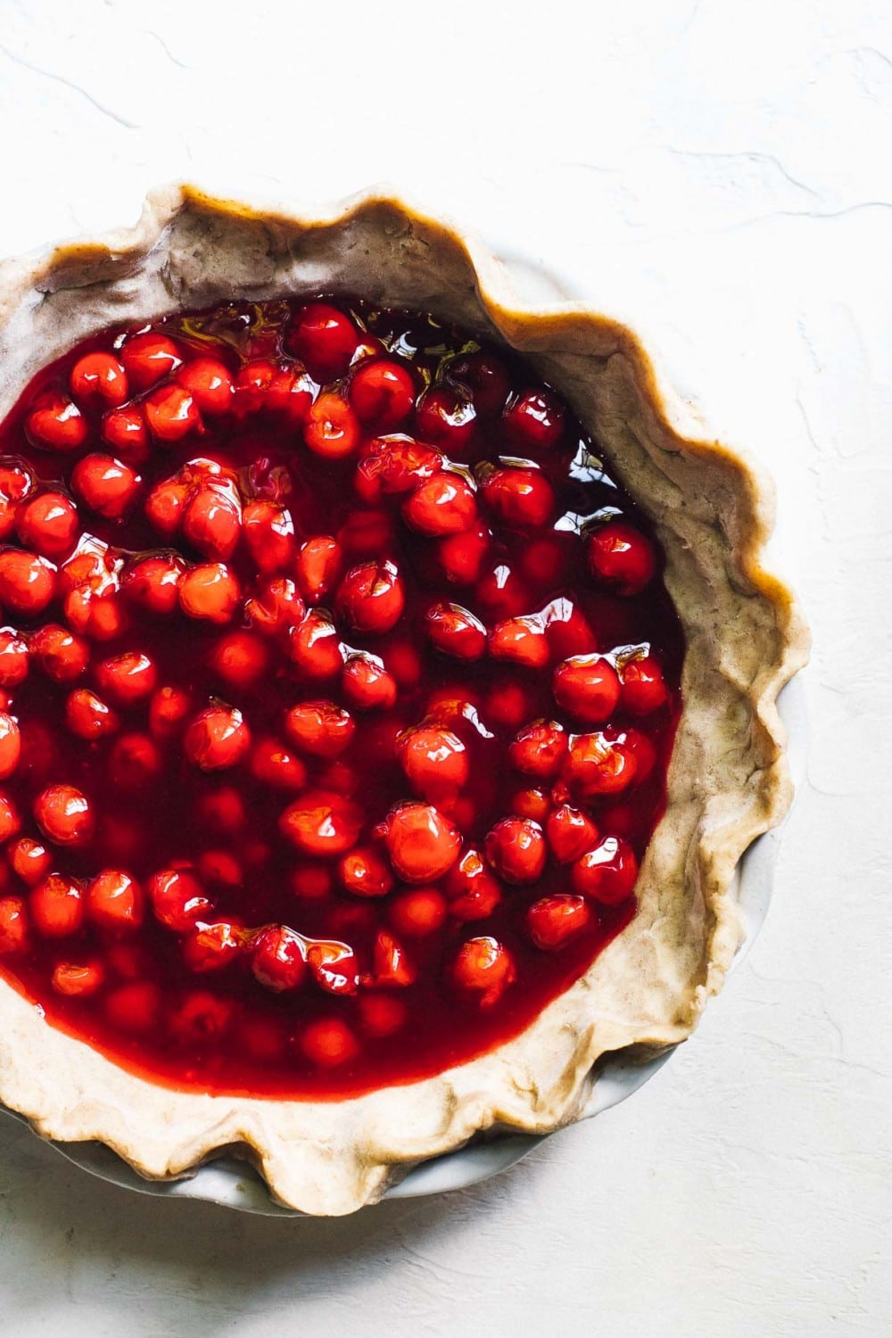 unbaked tart cherry pie