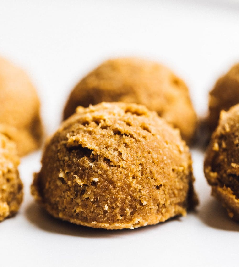 gluten free pumpkin cookie dough, close up photo