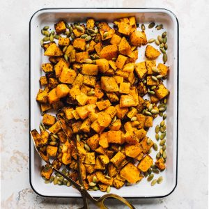 Garlic Herb Air Fryer Butternut Squash