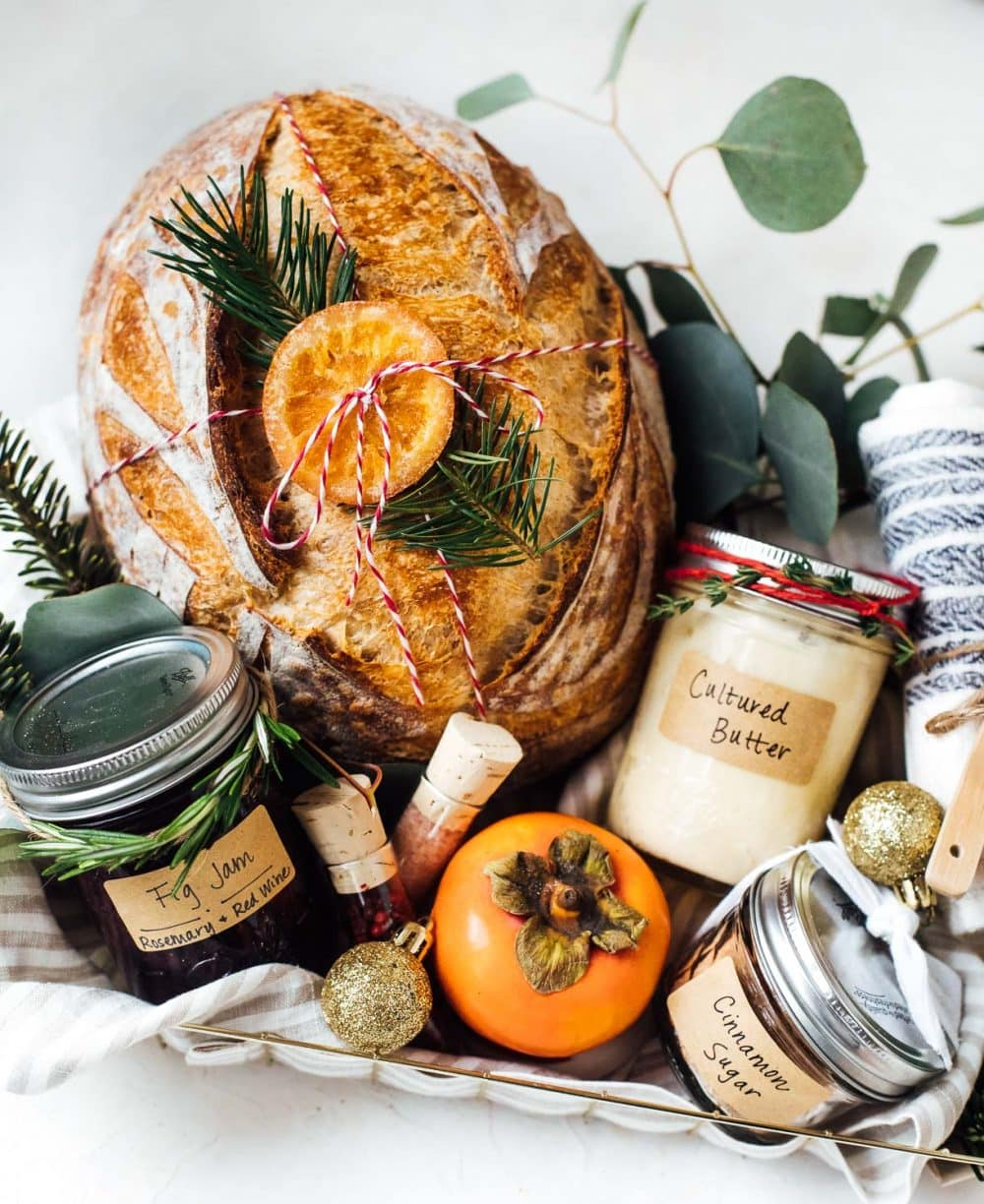 bread gift basket for the holidays