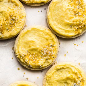 Foolproof Gluten-Free Sugar Cookies with Mango Buttercream