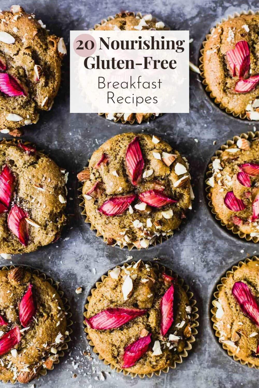 15 gluten-free breakfast recipes, rhubarb muffins backround