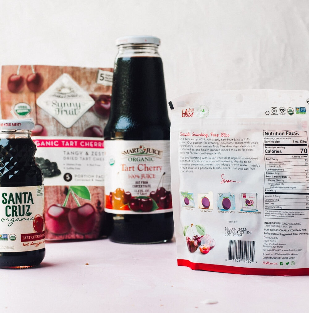 imported tart cherry products
