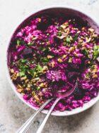Super Pink Beet & Rice Salad {gluten-free}